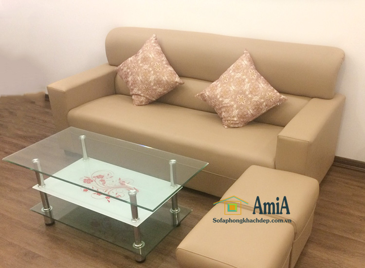 Hình ảnh sofa văng da đẹp giá rẻ tại AmiA với hình ảnh thực tế nhà khách hàng