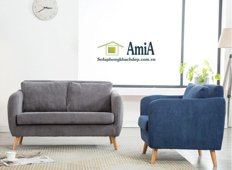 Hình ảnh Mẫu sofa văng đẹp chất liệu nỉ hiện đại kích thước nhỏ xinh cho nhà nhỏ