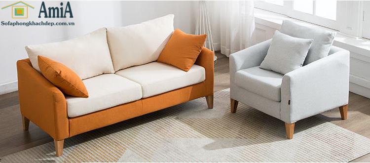 Hình ảnh Mẫu sofa văng đẹp nhỏ xinh cho nhà nhỏ, phòng khách nhỏ