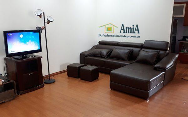 Hình ảnh Sofa da đẹp cho phòng khách đẹp nhà khách hàng