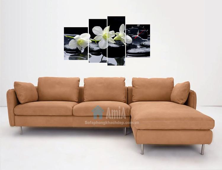 Hình ảnh Sofa da đẹp hiện đại cho phòng khách gia đình