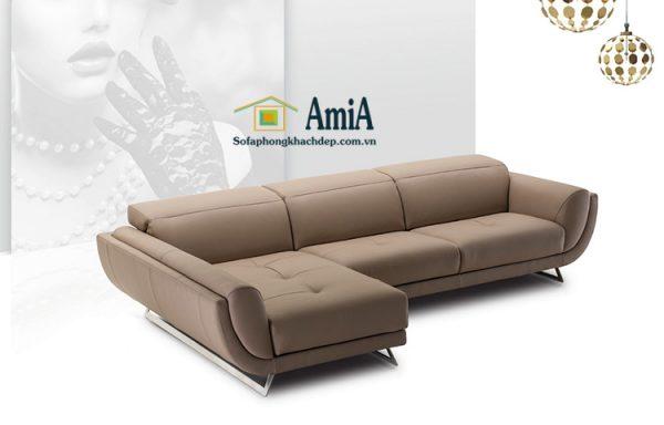 Hình ảnh Mẫu sofa da phòng khách đẹp hiện đại cho nhà phố, nhà chung cư đẹp