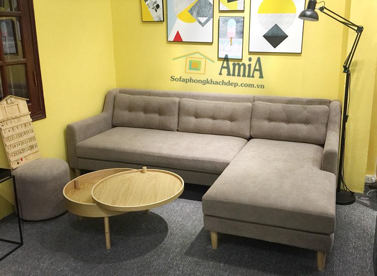 Hình ảnh Ghế sofa nỉ chữ L đẹp 3 chỗ cho phòng khách nhỏ xinh