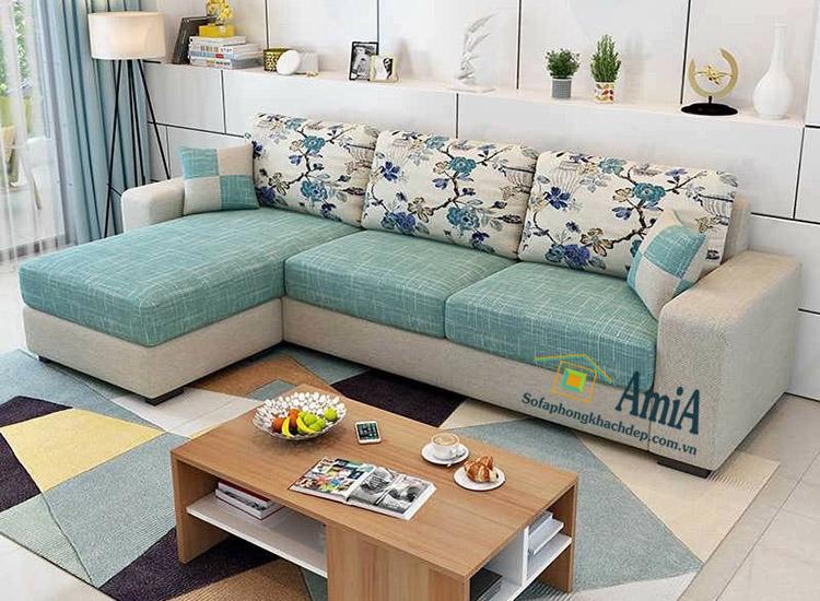 Hình ảnh sofa nỉ đẹp hình chữ L hiện đại