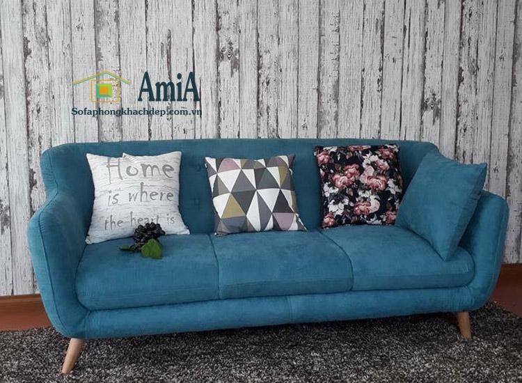 Hình ảnh Sofa nỉ đẹp giá rẻ tại Hà Nội thiết kế dạng văng kích thước nhỏ