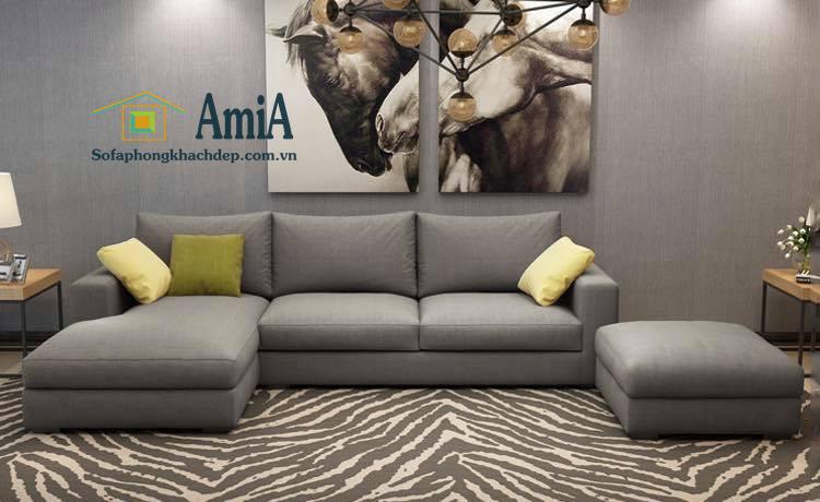 Hình ảnh Sofa nỉ đẹp hình chữ L cho nhà phố, nhà ống hay chung cư