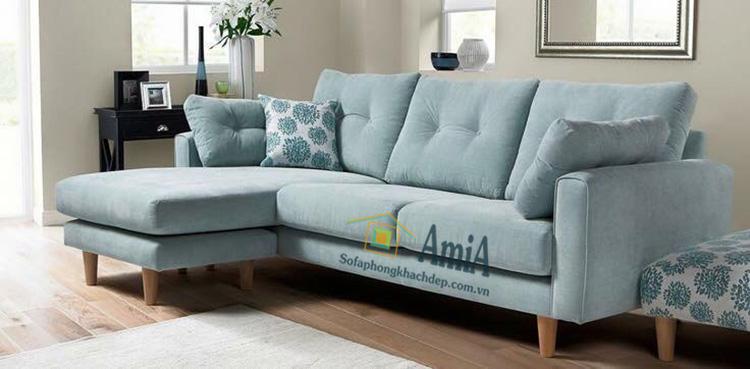 Hình ảnh Sofa nỉ đẹp phòng khách gia đình hiện đại và trẻ trung