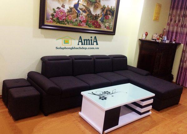 Hình ảnh Sofa phòng khách đẹp làm theo yêu cầu với chất liệu nỉ
