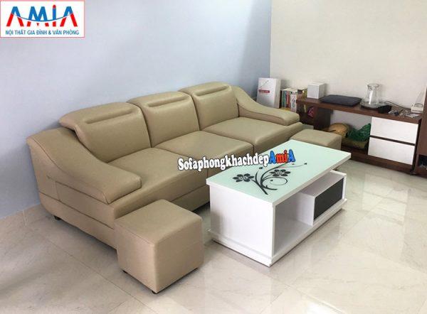 Hình ảnh Ghế sofa văng da đẹp giá rẻ Hà Nội cho phòng khách chung cư