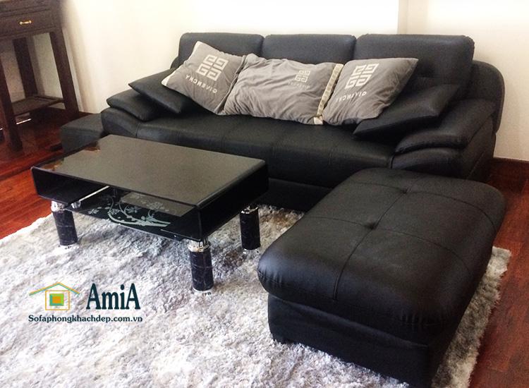 Hình ảnh Sofa văng da đẹp Hà Nội kích thước nhỏ xinh cho nhà nhỏ, nhà chung cư nhỏ