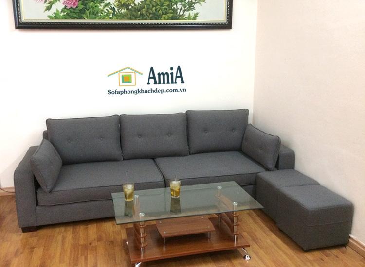 Hình ảnh Sofa văng đẹp chất nỉ 3 chỗ kích thước nhỏ xinh cho phòng khách đẹp