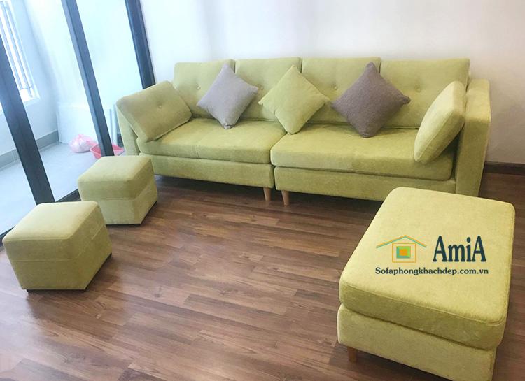 Hình ảnh Sofa văng đẹp cho phòng khách chung cư, chung cư nhỏ xinh
