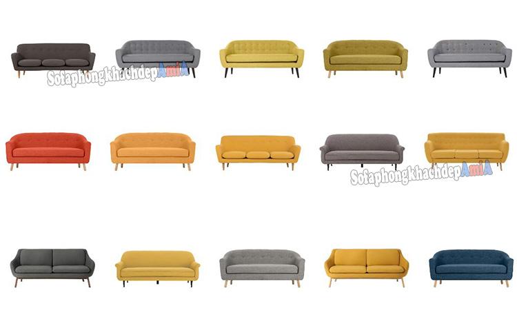 Hình ảnh ghế sofa văng đẹp làm theo yêu cầu tại Tổng kho Nội thất AmiA