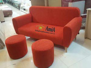Hình ảnh Mẫu ghế sofa văng nỉ đẹp cỡ nhỏ cho phòng khách nhỏ, nhà nhỏ, chung cư nhỏ mini