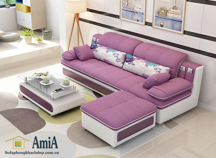 Hình ảnh Sofa văng nỉ đẹp Hà Nội bài trí trong căn phòng khách đẹp