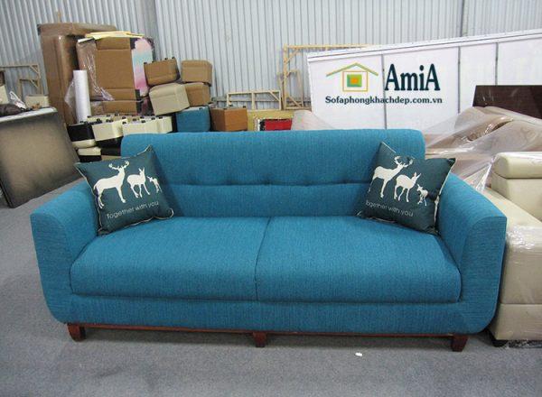 Hình ảnh Sofa văng nỉ đẹp phòng khách thiết kế hiện đại kích thước nhỏ xinh xắn