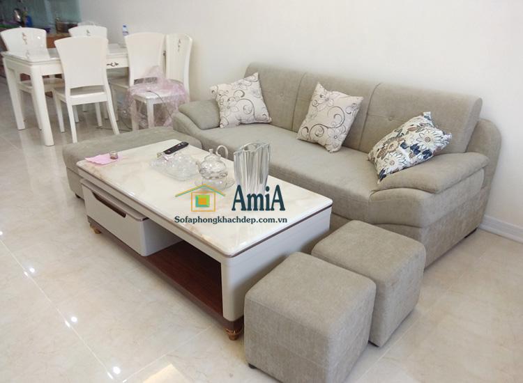 Hình ảnh Sofa văng nỉ đẹp cho phòng khách đẹp nhà chung cư