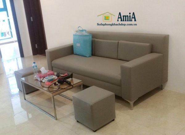 Hình ảnh sofa văng phòng khách đẹp kích cỡ nhỏ xinh cho phòng khách nhỏ, nhà nhỏ