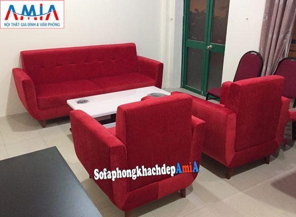 Hình ảnh Bộ ghế sofa văng nỉ đẹp đặt làm theo yêu cầu kết hợp 2 ghế ngắn