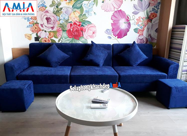 Hình ảnh đặt đóng ghế sofa tại AmiA cho phòng khách đẹp nhỏ xinh