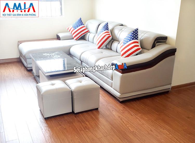 Hình ảnh Mẫu ghế sofa da cao cấp đẹp hiện đại và sang trọng