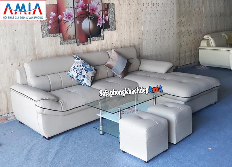 Hình ảnh Mẫu ghế sofa da cho phòng khách hiện đại gia đình