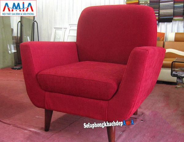 Hình ảnh Ghế sofa đơn giá rẻ đẹp hiện đại với gam màu đỏ nổi bật và ấn tượng