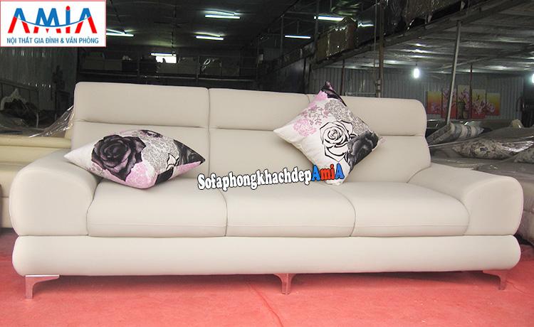 Hình ảnh Ghế sofa văng da đẹp hiện đại cho phòng khách đẹp
