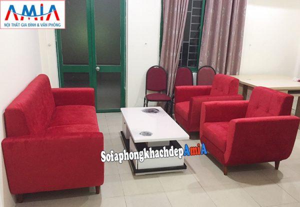 Hình anh Ghế sofa văng nỉ đẹp Hà Nội kê phòng khách đẹp