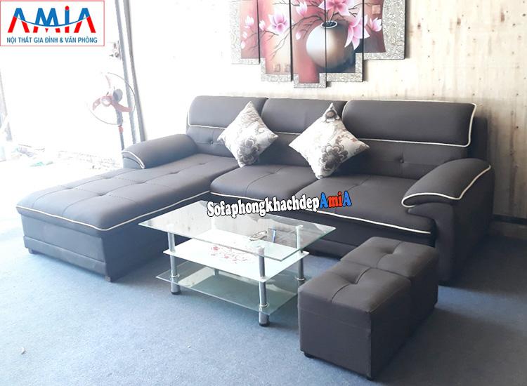 Hình ảnh mẫu sofa da phòng khách đẹp cho nhà phố, nhà chung cư hiện đại