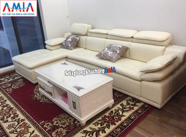 Hình ảnh Mẫu sofa da phòng khách hiện đại giá rẻ tại Tổng kho Nội thất AmiA
