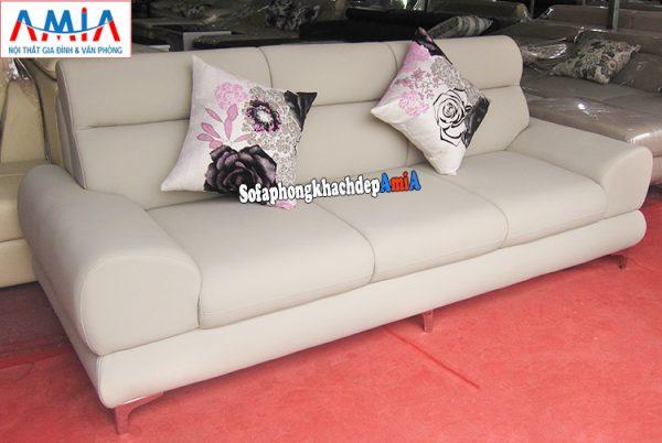 Hình ảnh Mẫu sofa văng da Hà Nội kê phòng khách nhỏ, nhà nhỏ