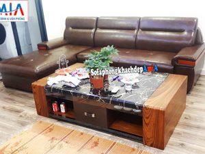 Hình ảnh Mẫu ghế sofa da cao cấp cho phòng khách đẹp hiện đại cho nhà chung cư, nhà phố