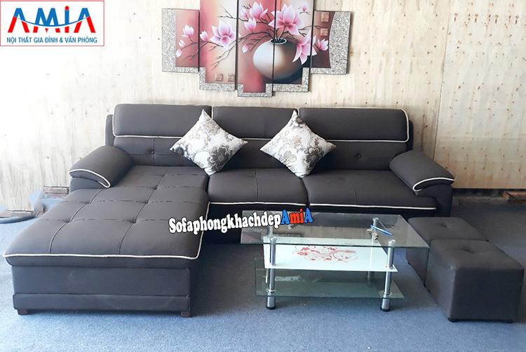 Hình ảnh Ghế sofa da đẹp cho phòng khách chung cư, phòng khách nhà phố đẹp