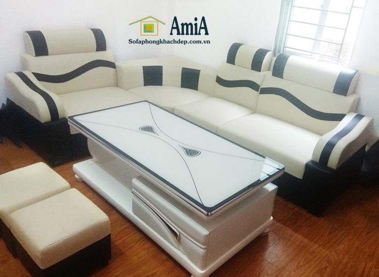 Hình ảnh Ghế sofa da đẹp giá rẻ cho phòng khách đẹp gia đình
