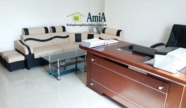 Hình ảnh ghế sofa da giá rẻ đẹp hiện đại cho phòng làm việc giám đốc