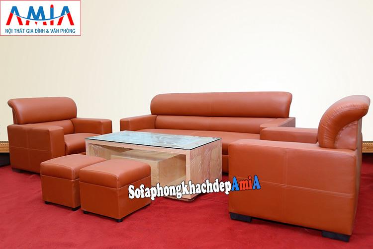 Hình ảnh Sofa da giá rẻ kê phòng làm việc hiện đại cho công ty, phòng giám đốc