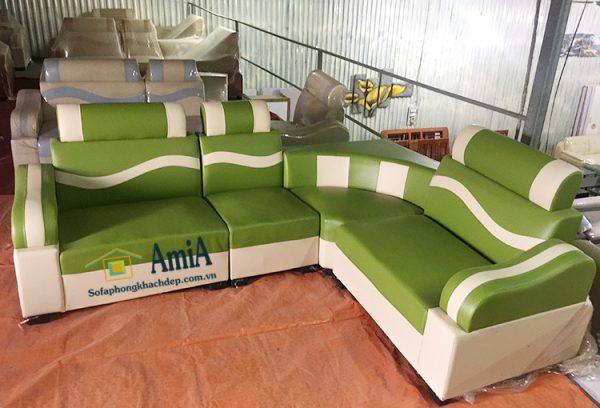 Hình ảnh Sofa da góc nhỏ mini giá rẻ 2 triệu có sẵn cực nhiều tại Nội thất AmiA