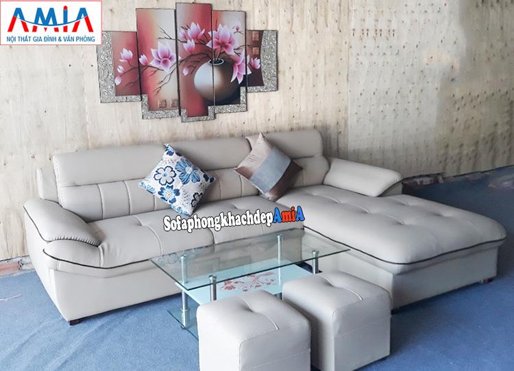 Hình ảnh Ghế sofa da phòng khách đẹp hiện đại tại Hà Nội
