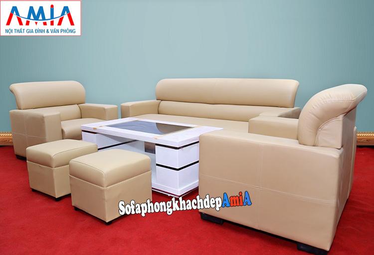 Hình ảnh Sofa da phòng làm việc hiện đại, sang trọng