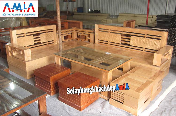 Bộ Ban Ghế Sofa Gỗ Goc Phong Khach Hiện đại Amia Sfg011