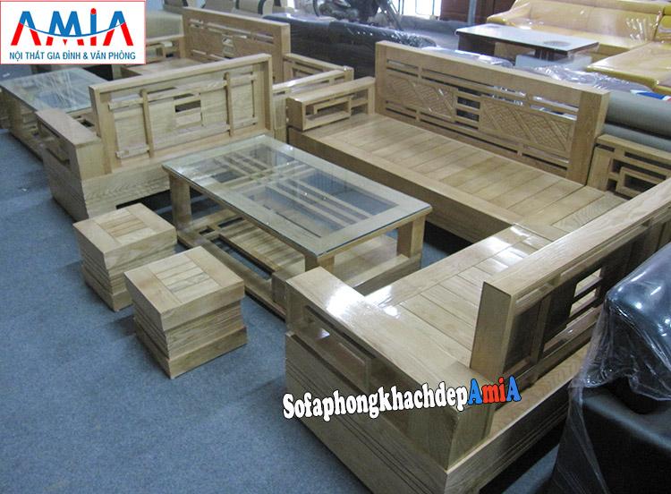 Hình ảnh Sofa gỗ góc đẹp hiện đại giá rẻ tại Hà Nội