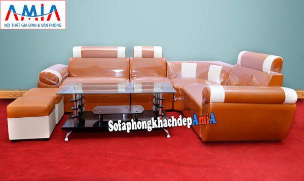 Hình ảnh Mẫu ghế sofa góc giá rẻ kích thước nhỏ kê phòng khách nhỏ, nhà nhỏ, chung cư