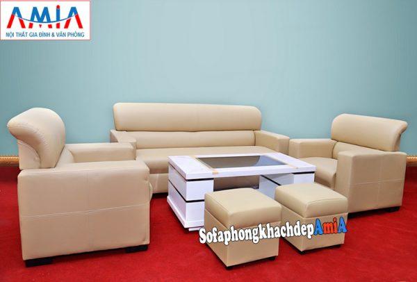 Hình ảnh Sofa phòng giám đốc chất liệu da thiết kế hiện đại và sang trọng
