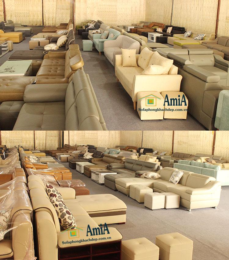 Hình ảnh tổng kho sofa phòng khách đẹp AmiA cơ sở Mỹ Đình