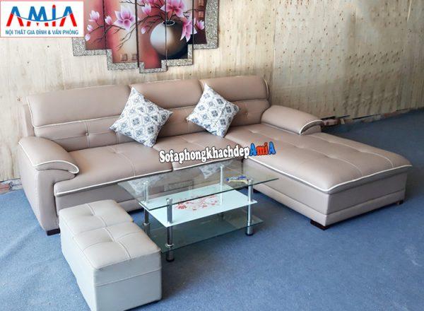 Hình ảnh Ghế sofa phòng khách đẹp chất liệu da hiện đại tại Nội thất AmiA