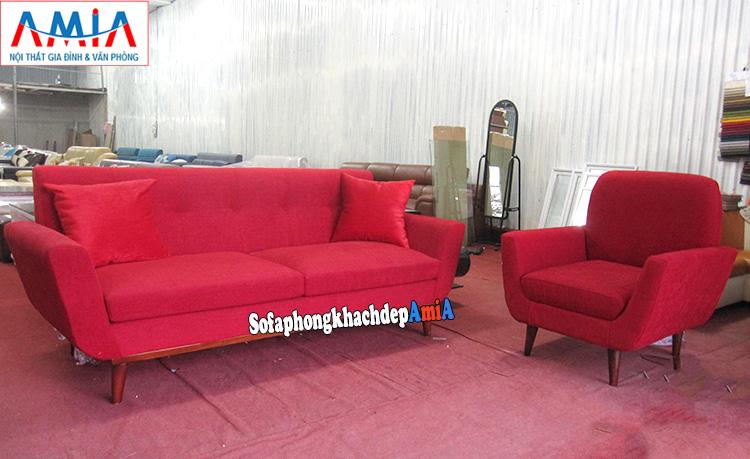 Hình ảnh Sofa phòng ngủ đẹp với gam màu đỏ nổi bật, ấn tượng