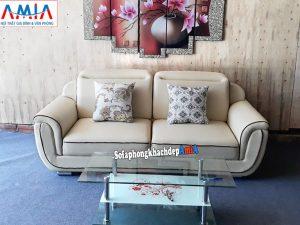 Hình ảnh Ghế sofa văng da đẹp 2 chỗ kê không gian nhỏ xinh