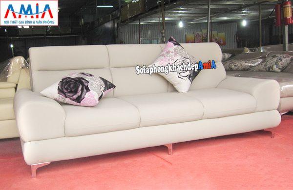 Hình ảnh Ghế sofa văng da đẹp phòng khách hiện đại AmiA