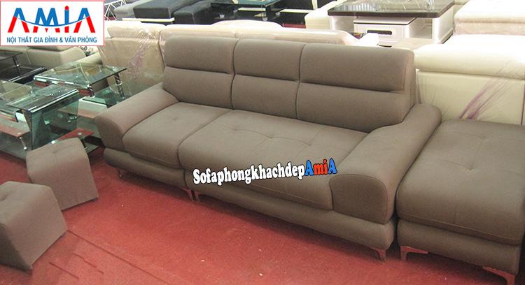 Hình ảnh Mẫu sofa văng da hiện đại cho phòng khách đẹp nhà chung cư, nhà phố